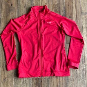 Pink Reebok Zip-Up Sweater